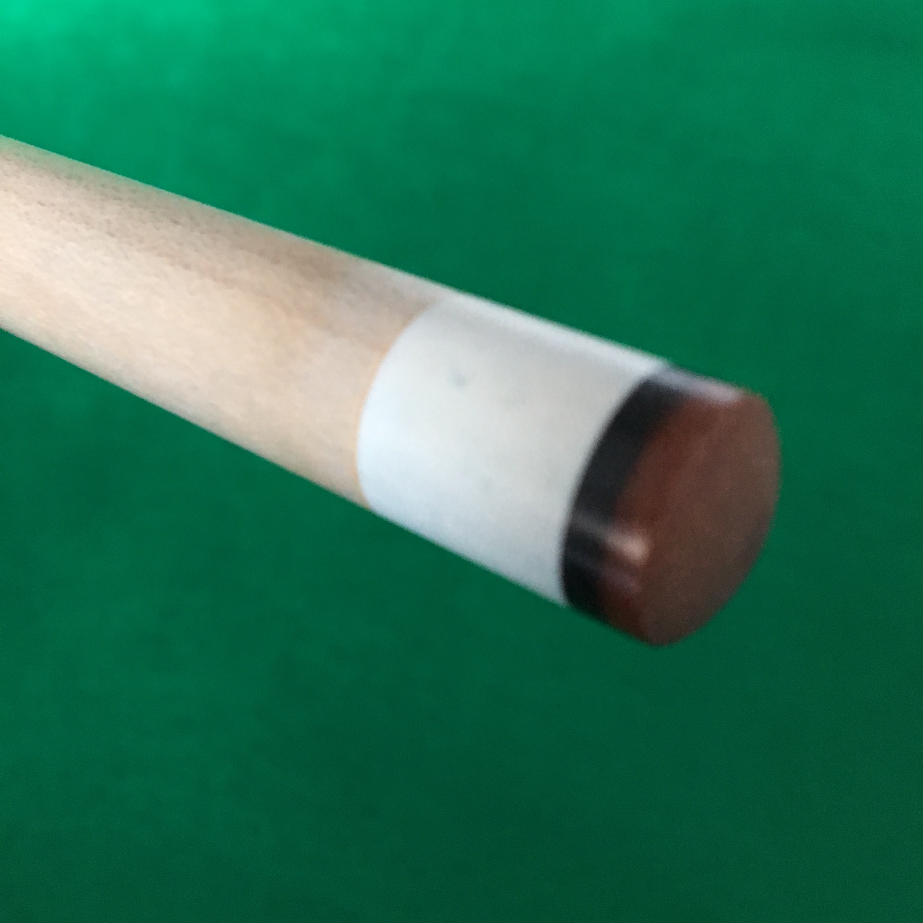 The tip is still the factory tip the cue came with and it has not  mushroomed or broken down in any way. This cue plays the same today as the  day I purchased ... f0f345eaa